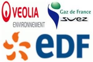 EDF, GDF, EAU