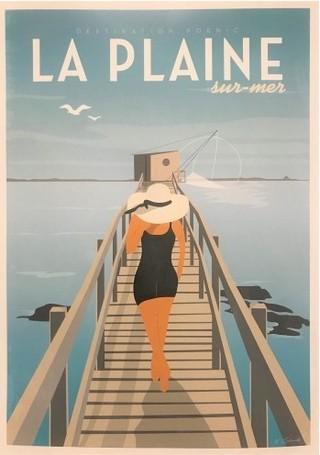Affiche pêcherie La Plaine Sur Mer