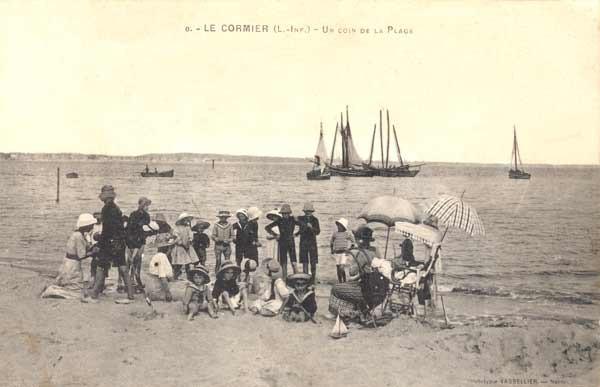 ancienne carte postale, la plaine sur mer, histoire la plaine sur mer