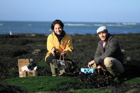 Julie et Vincent d'Echos Nature, alg'dente, algues, épices de la mer, produits locaux, destination pornic