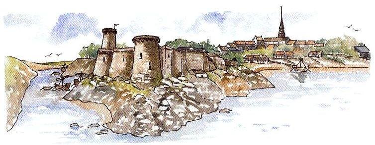 forteresse de Pornic au XVème siècle 15e