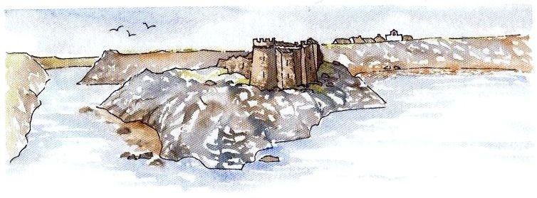 place forte de Pornic au XIIème siècle 12e