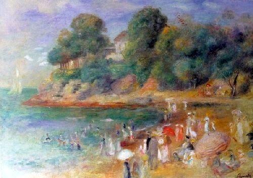 La plage de Pornic peinte en 1892  par Pierre-Auguste Renoir