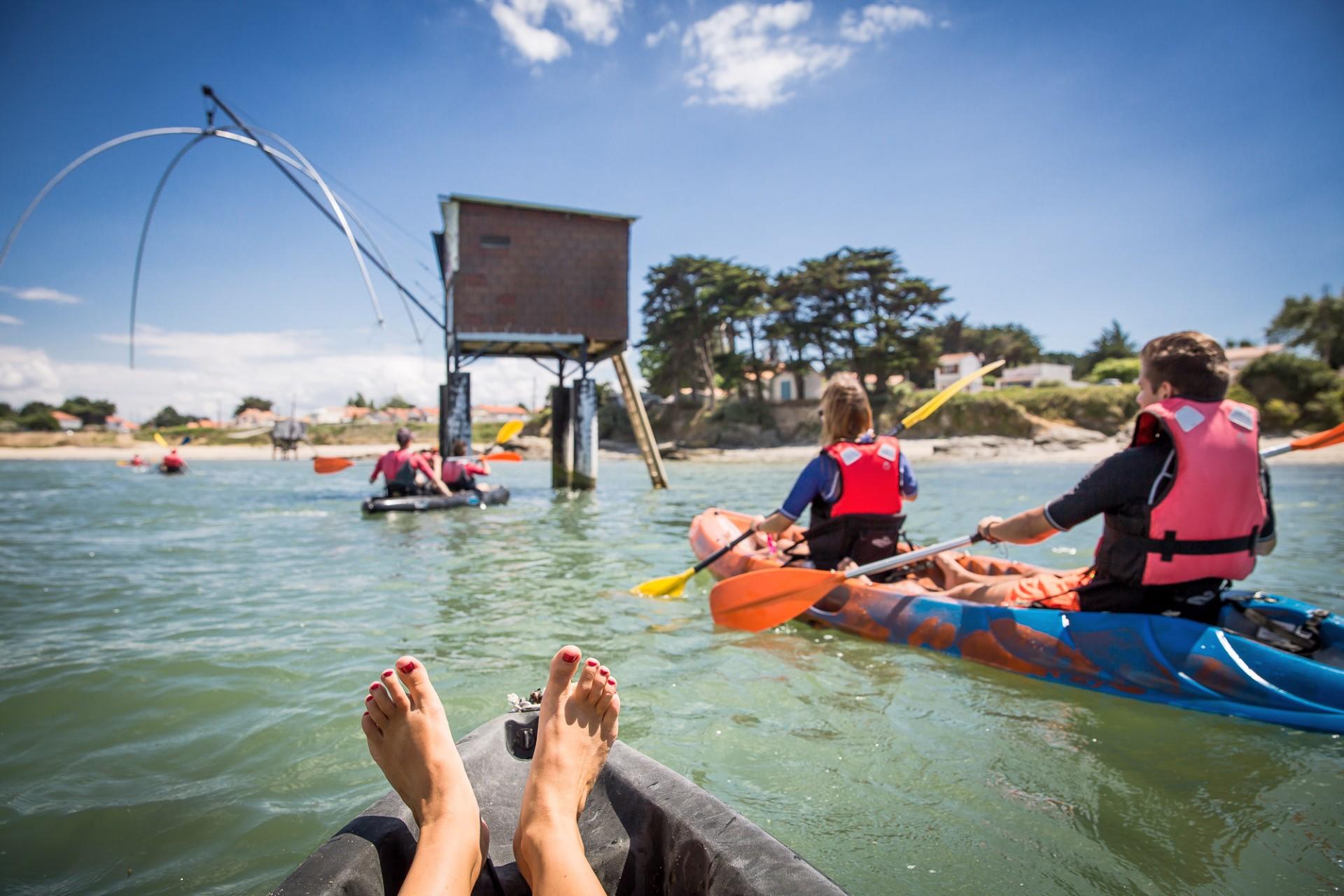 balade en kayak, balade en kayak en amoureux, kayak en mer, kayak la plaine sur mer, destination pornic, kayak nomade