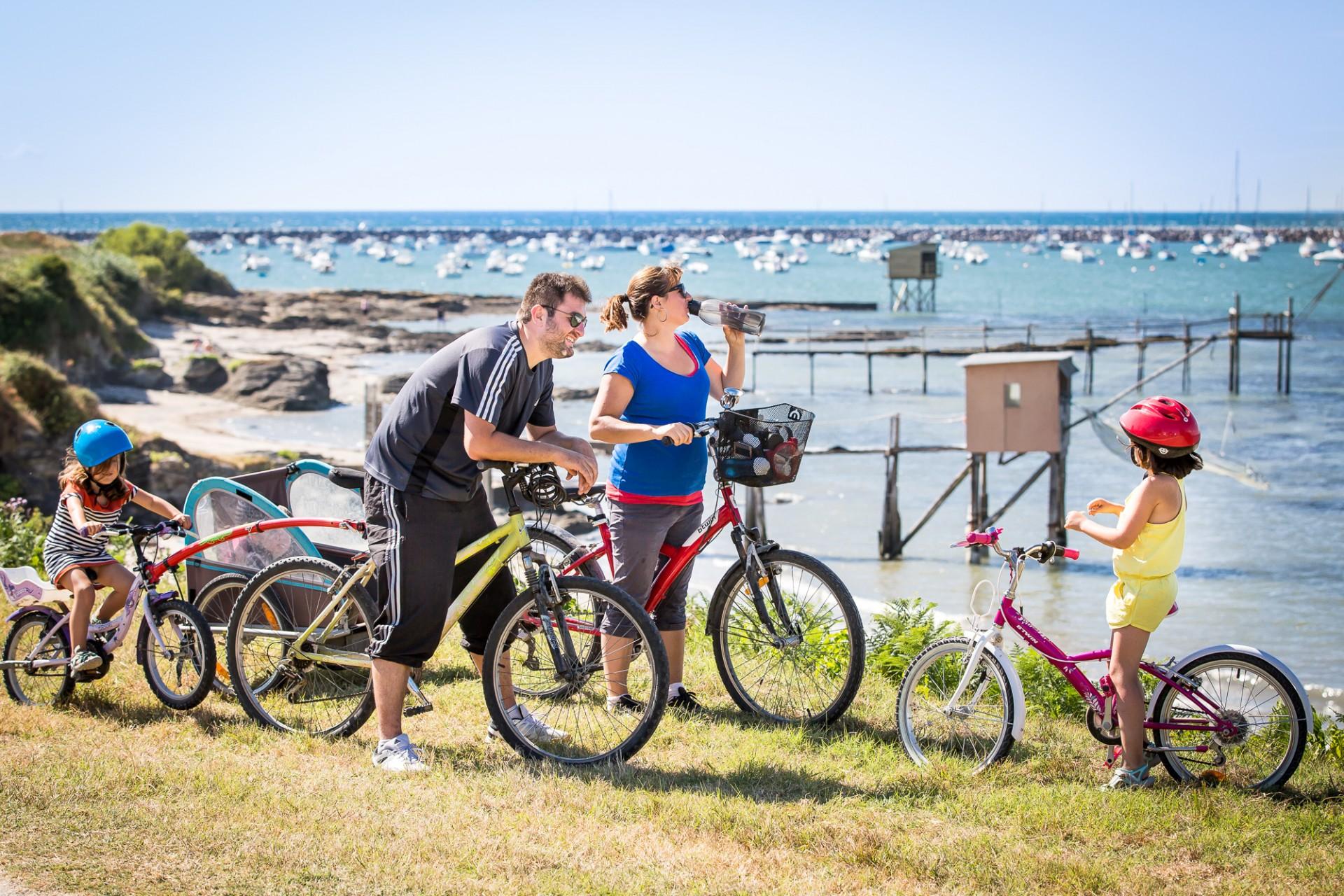 balade à vélo, balade à vélo en famille, randonnée vélo la plaine sur mer, randonnée vélo destination pornic