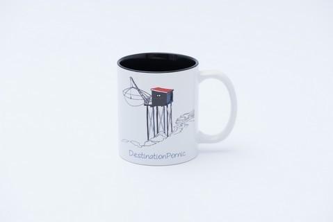 mug pêcherie noir