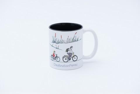 mug vélo noir