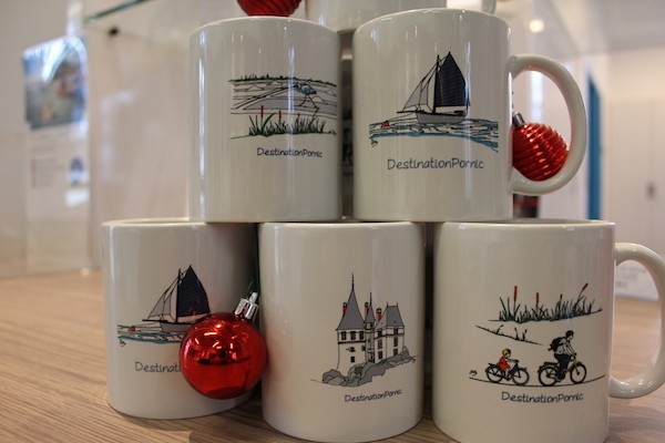 Mugs, mugs destination pornic, tasse, pecherie, idées cadeaux, idées cadeaux noel, cadeaux noel