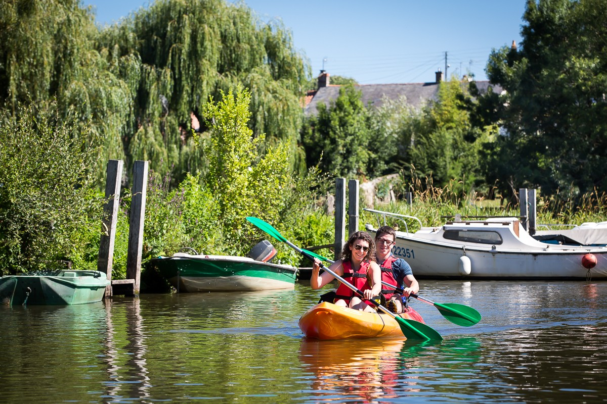 balade en kayak, balade en kayak en amoureux, kayak rivière, kayak acheneau, destination pornic