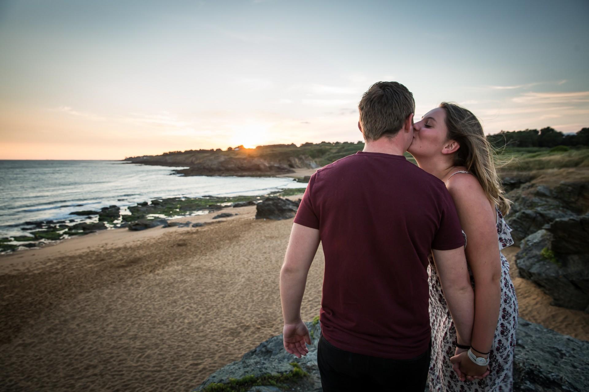 coucher de soleil, sortie en amoureux, sortie à deux, coucher de soleil sainte marie sur mer, coucher de soleil destination pornic