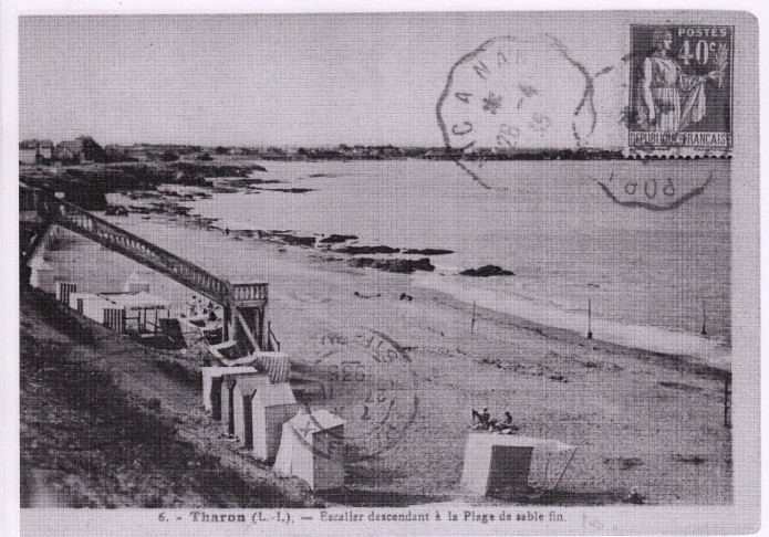 Il été une fois Tharon-plage, Escalier descendant sur la plage de sable fin