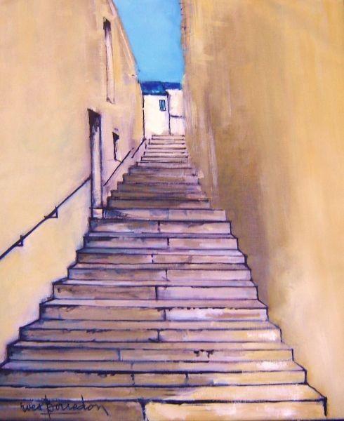 Yves Borredon l'escalier