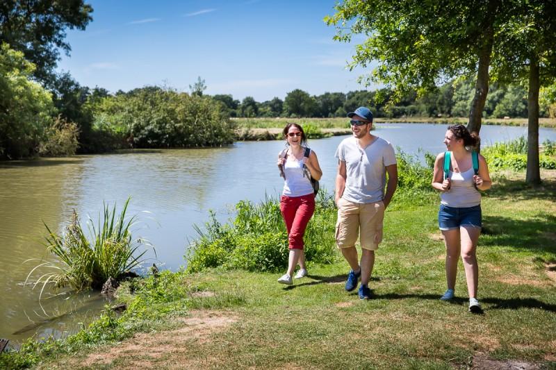 randonnée, cheix en retz, pêche à la ligne, pêche en rivière, acheneau, pierre tremblante