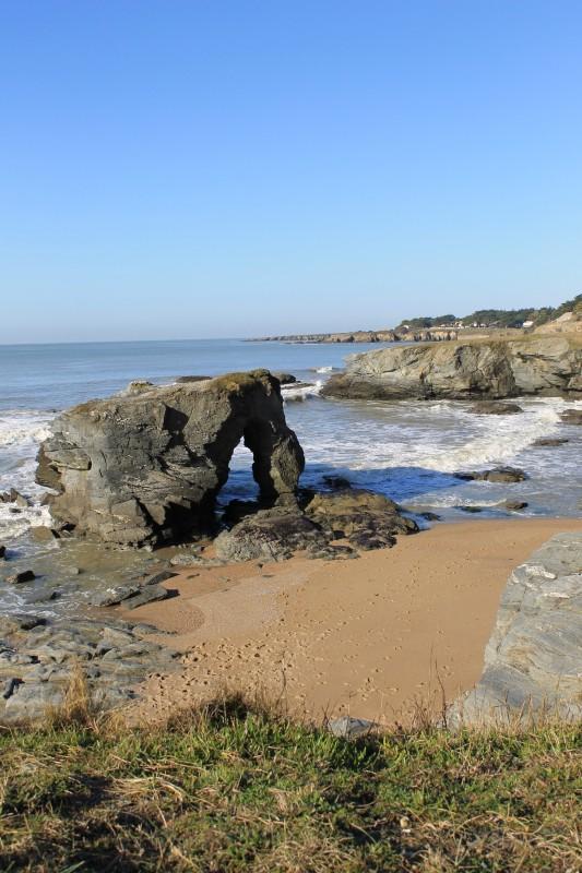 prefailles, la roche percée, roche percée, nature, destination pornic, cote, loire atlantique