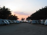 aire de camping-cars face mer