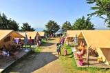 Camping La Madrague - Pornic - location  tentes, pornic camping, campings pornic, proche mer, plage,roulottes,piscine chauffée, toboggans, jeux, enfants