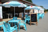 Camping Les Bleuets, terrasse restaurant