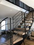 Escalier et rampe réalisés par l'entreprise AMFS bodeau