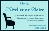 L'ATELIER DE CLAIRE, REFECTION DE SIEGE ET FAUTEUIL, CREATION SACS A MAIN, DESTINATION PORNIC