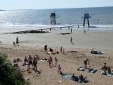 plage d'anjou, sable, pâté de sable, plage,été, soleil, baignade, tharon, plage de tharon