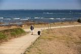 Promenade avec chien en laisse, Pointe Saint-Gildas, réserve naturelle régionale, pointe st gildas prefailles, rnr prefailles, pointe st gildas destination pornic