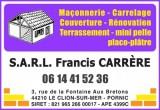 S.A.R.L. Francis CARRÈRE DESTINATION PORNIC Maçon carreleur couvreur Rénovation et aménagement