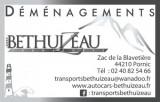 TRANSPORTS BETHUIZEAU DEMENAGEMENTS Carte de visite