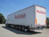 TRANSPORTS POLLONO SEMI REMORQUE TAUTLINER HAYON PORNIC
