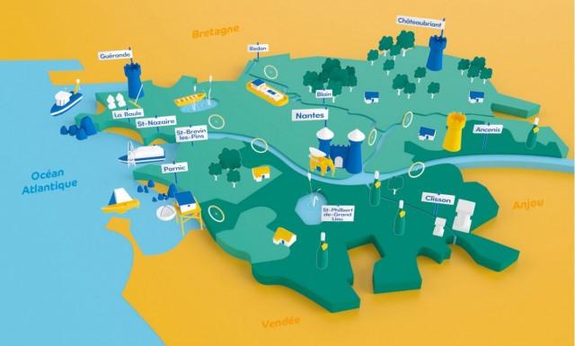 Carte touristique Loire Atlantique Développement