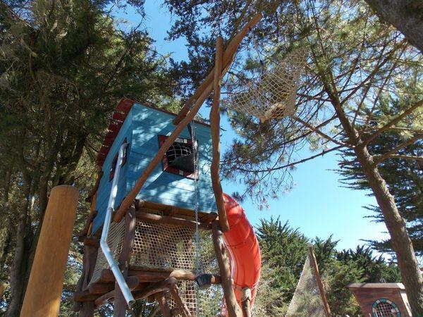 Cabane dans les arbres au Camping La Madrague Sainte Marie sur Mer Pornic,