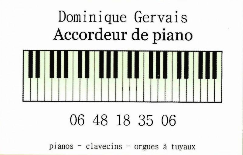 DOMINIQUE GERVAIS Accordeur de piano clavecin orgues à tuyaux DESTINATION PORNIC