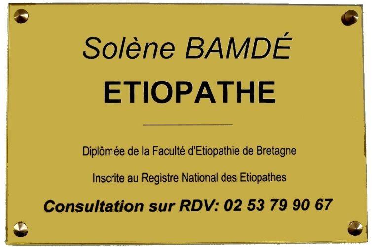 ETIOPATHE Solène BAMDÉ