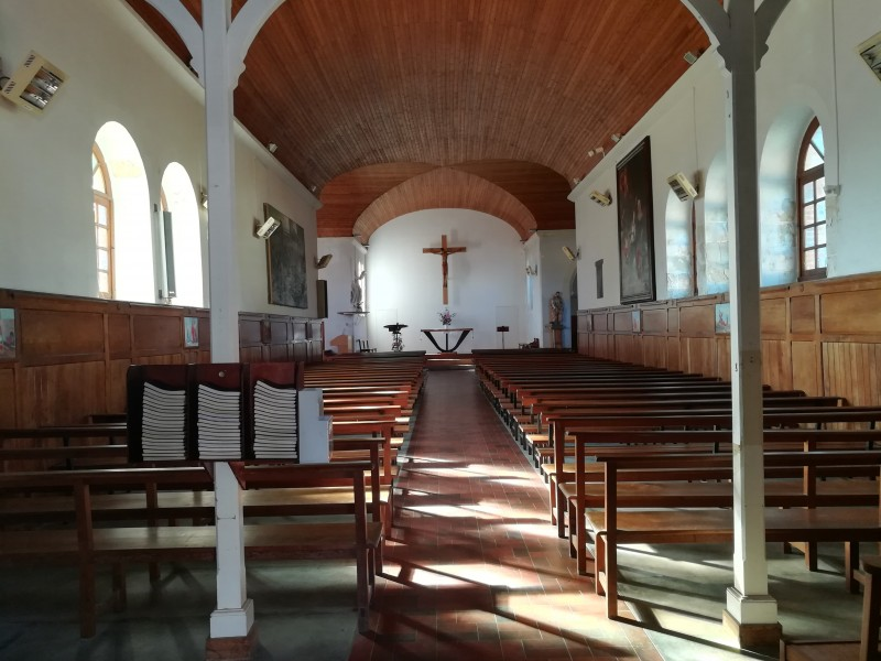 Intérieur de la chapelle de Préfailles