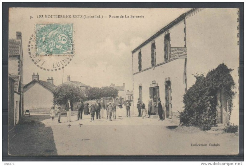 histoire de la ville des moutiers, les moutiers en retz, place centre, abbé baconnais, abbé maillard