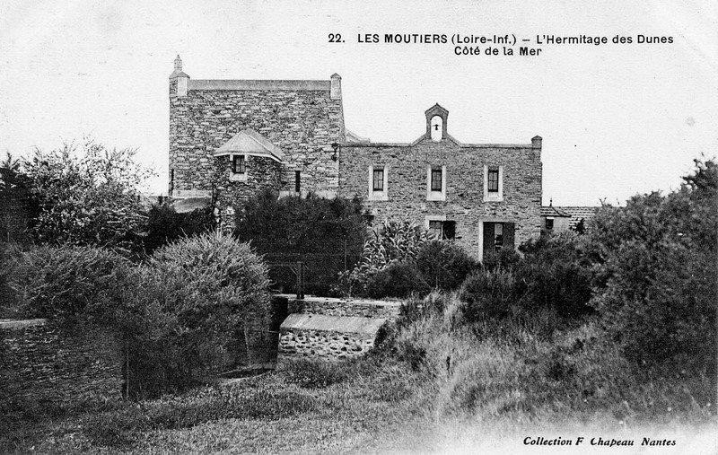 Le manoir de l'Hermitage, hermitagfe des dunes, histoire, belle villa, demeure, bois millet, les moutiers en retz