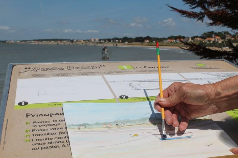 la plaine sur mer, le cormier, pause dessin, plage, enfant, coloriage