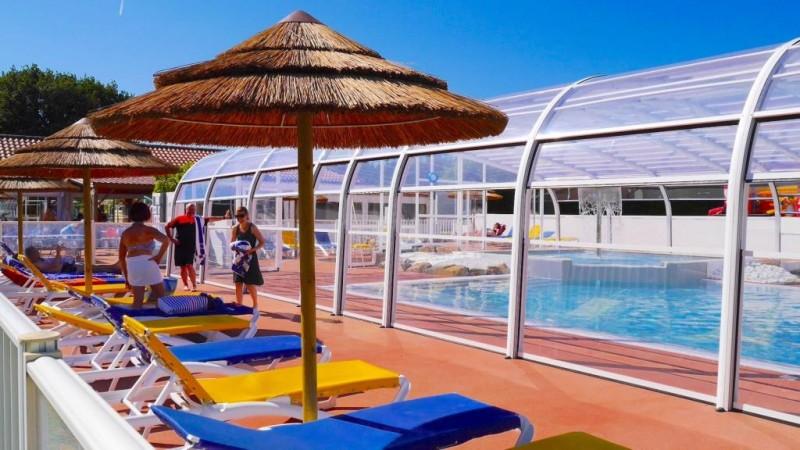 camping les brillas, piscine, piscine couverte, espace aquatique, les moutiers en retz, moutiers, destination pornic