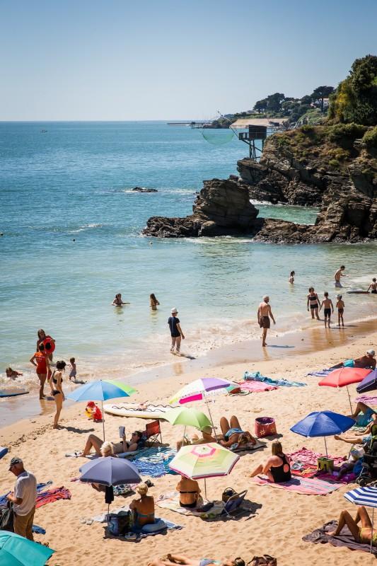 Pornic, plage de la birochère, plage, plage de pornic, destination pornic, loire atlantique
