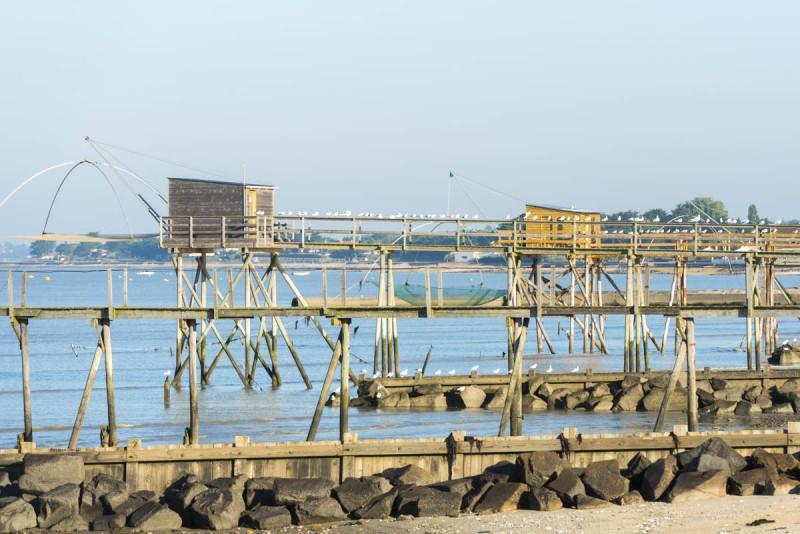 plage de lyarne, zone naturelle sensible, natura 2000, plage de sable fin, plage naturelle, plage sauvage, plage nettoyée manuellement,  laisse de mer, pêcheries, carrelet, les moutiers en retz, port du collet