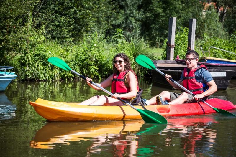escapade nature, canoe, kayak, balade riviere, bateau electrique, barque, acheneau, rivière, port saint père, balade en rivière, port st pere, nantes, pornic