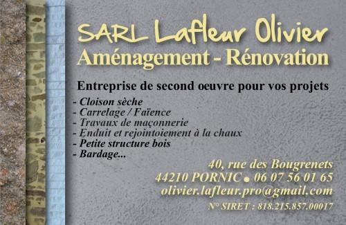 SARL LAFLEUR OLIVIER Destination Pornic rénovation aménagement cloison sèche, carrelage, faience