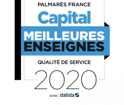 Senior Compagnie, logo meilleures enseignes capital 2020