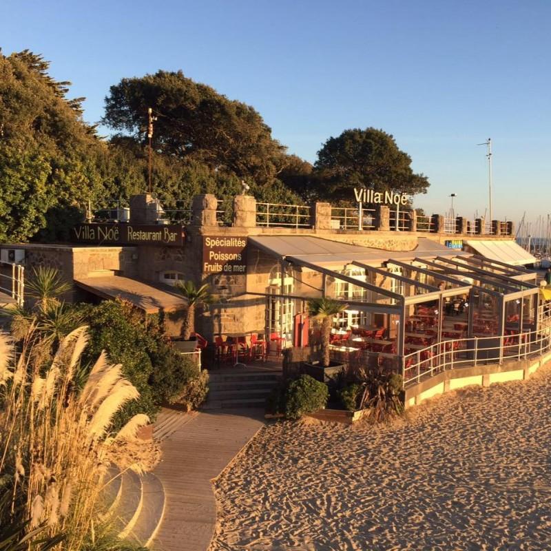 Villa Noe Pornic, restaurant, plage, noeveilard, port de plaisance, fruits de mer