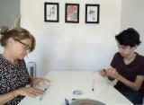Atelier creatif la tete en soie