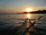 pornic sortie kayak de mer cote littoral pagaie randonnée balade coucher de soleil