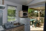 Cuisine cottage 4-5 places 2 chambre camping la Chênaie