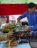 Cuisine exotique sur le marché