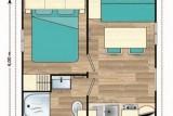 Plan mobil home 2/3 pax camping Eléovic