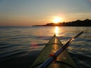 Balade kayak au coucher du soleil