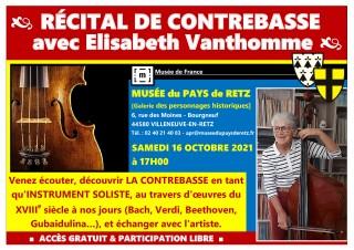 Récital de Contrebasse par Elisabeth VANTHOMME